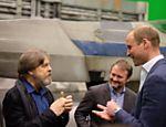 Príncipe William em encontro com o ator Mark Hamill, o Luke Skywalker