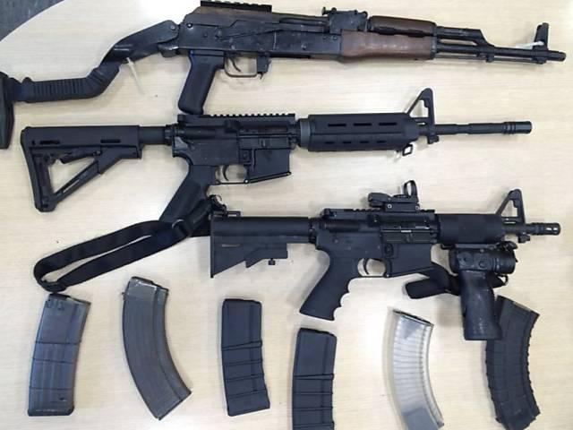 Apreensão de armas, balas e coletes