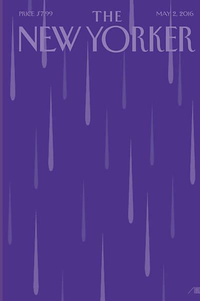Capa roxa com gotas de chuva