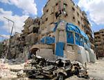 Hospital apoiado pela ONG Médicos Sem Fronteiras e pelo Comitê Internacional da Cruz Vermelha após bombardeio