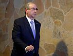 O presidente da câmara dos deputados Eduardo Cunha (PMDB-RJ) durante coletiva de imprensa na residência oficial da câmara. O STF decidiu hoje por unanimidade afastar ele do cargo e do mandato