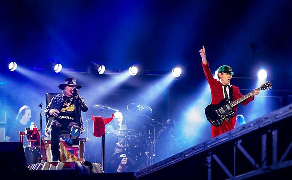 Show do AC/DC em Portugal com Axl Rose