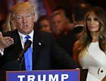 Donald Trump ao lado da mulher, Melania, 46: magnata conta com a filha Ivanka Trump, 34, e com a esposa para tentar reverter a aversão que seu nome provoca em 50,5% da população americana