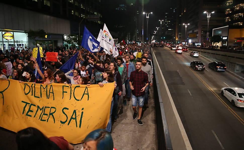 Protesto contra o governo Temer