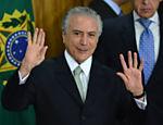 Michel Temer durante posse de seu novo Ministério em cerimonia no Palácio do Planalto