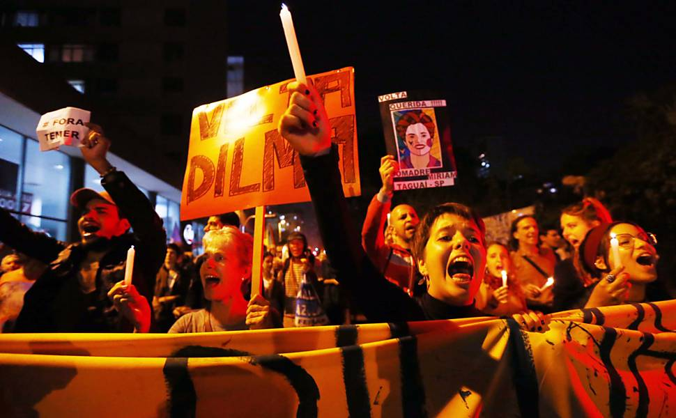 Protesto contra o presidente interino Michel Temer na Paulista