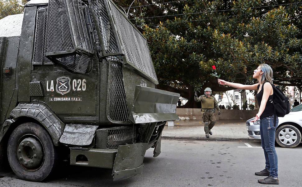 Protestos no Chile por reformas na educação