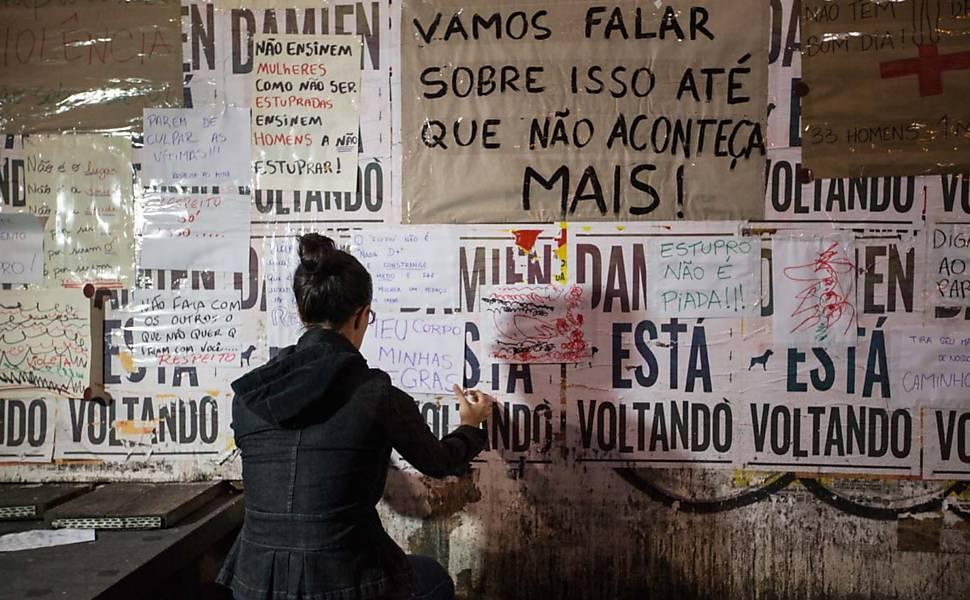 Atos contra estupro em São Paulo e Rio