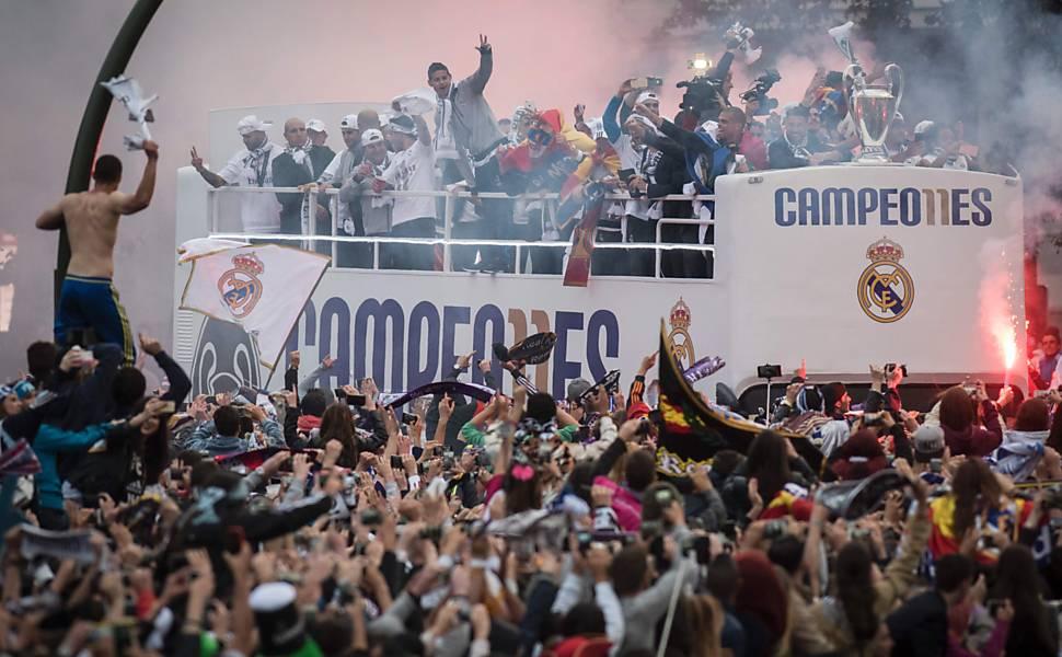 Festa do Real Madrid na Espanha