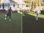Neymar e Bieber batem embaixadinhas juntos e enlouquecem