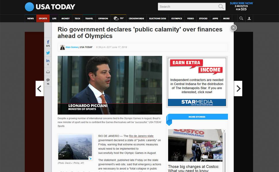 Calamidade Pública no RJ: Imprensa internacional repercute decreto