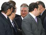 Presidente  Michel Temer recebe líderes religiosos na sala de audiência do Palácio do Planalto