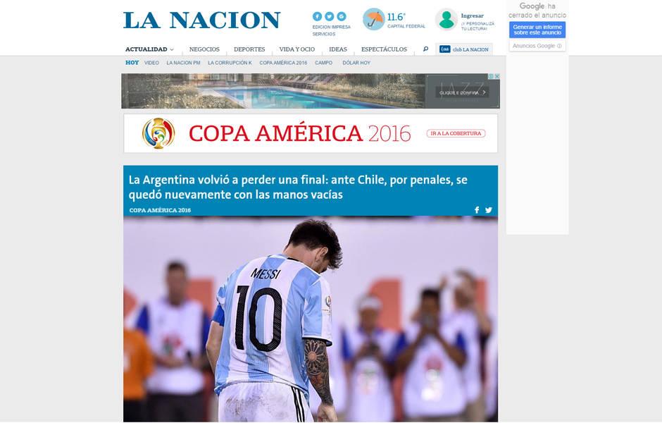Repercussão do título do Chile na Copa América