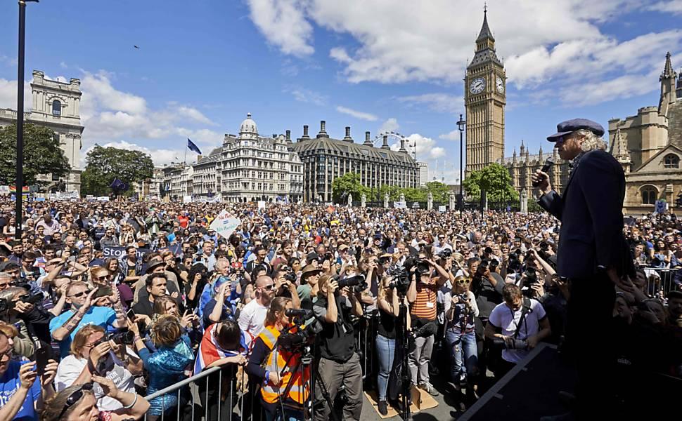 Protestos contra o Brexit em Londres