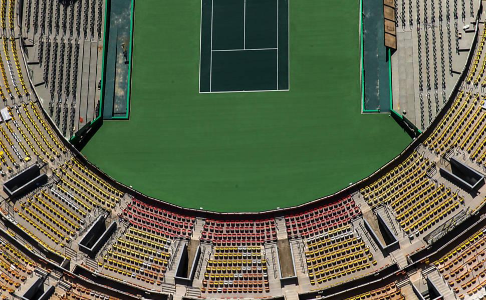 Imagens aéreas de instalações olímpicas