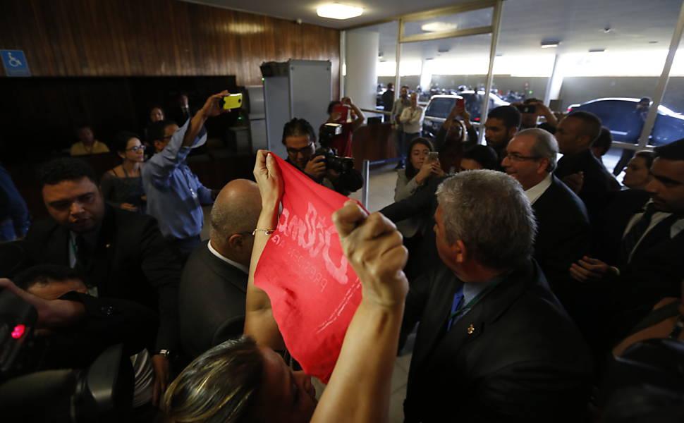 Renúncia de Cunha à presidência da Câmara, em 2016