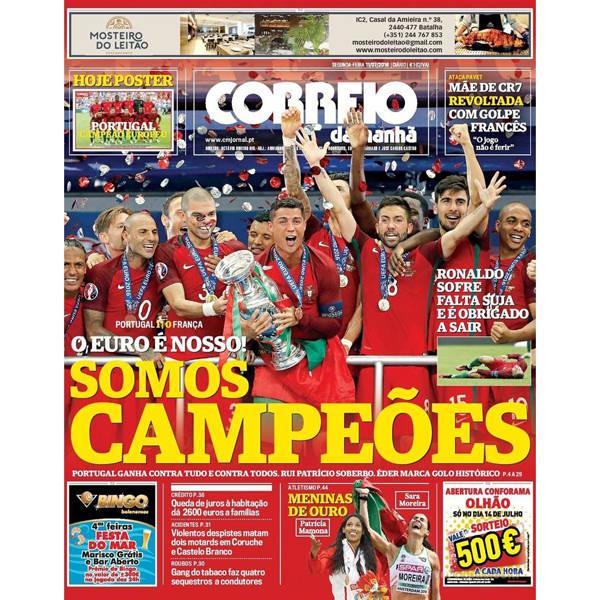 Portugal nas capas dos jornais