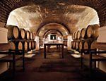 Barris armazenados na adega da vinícola da Fundação Eugénio de Almeida