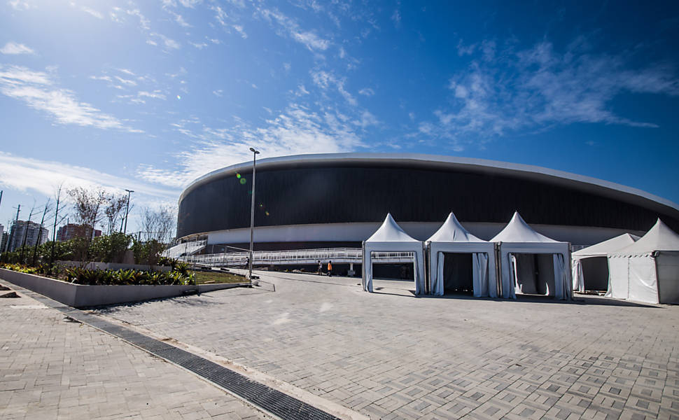 O Parque Olímpico pouco antes da Rio-2016