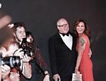 Lírio Parisotto e Luiza Brunet durante jantar de gala da AmfAR