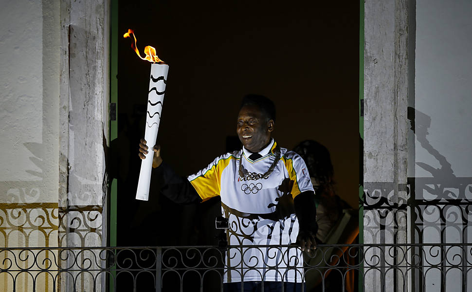 Fotos inusitadas da tocha olímpica