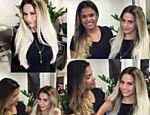 Viviane Araújo surpreendeu seus seguidores ao aparecer com o visual platinado