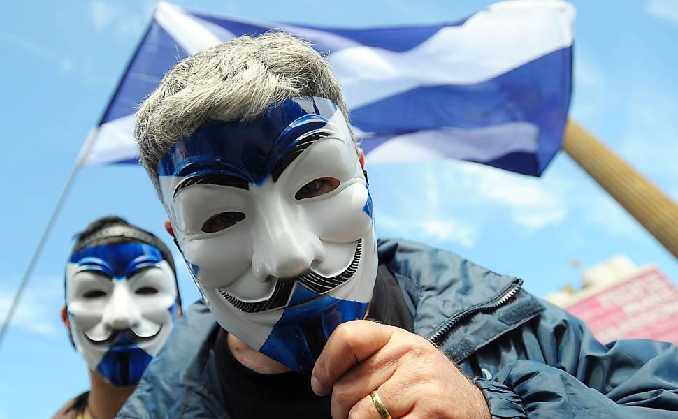 Protesto pró-independência da Escócia