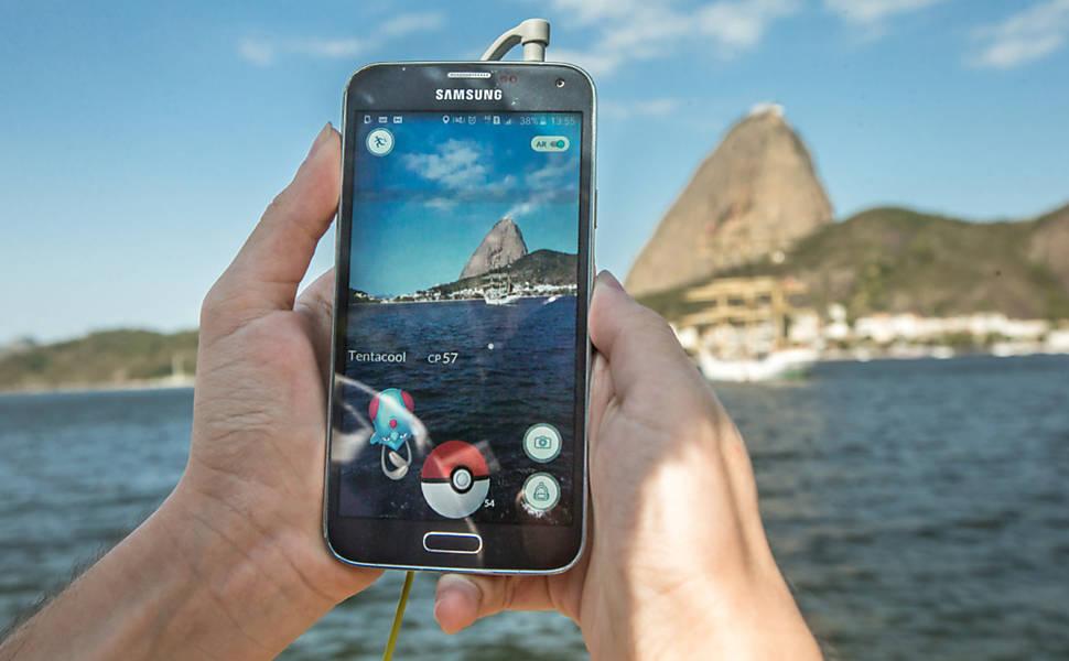 """""""Pokémon Go"""" é lançado no Brasil"""