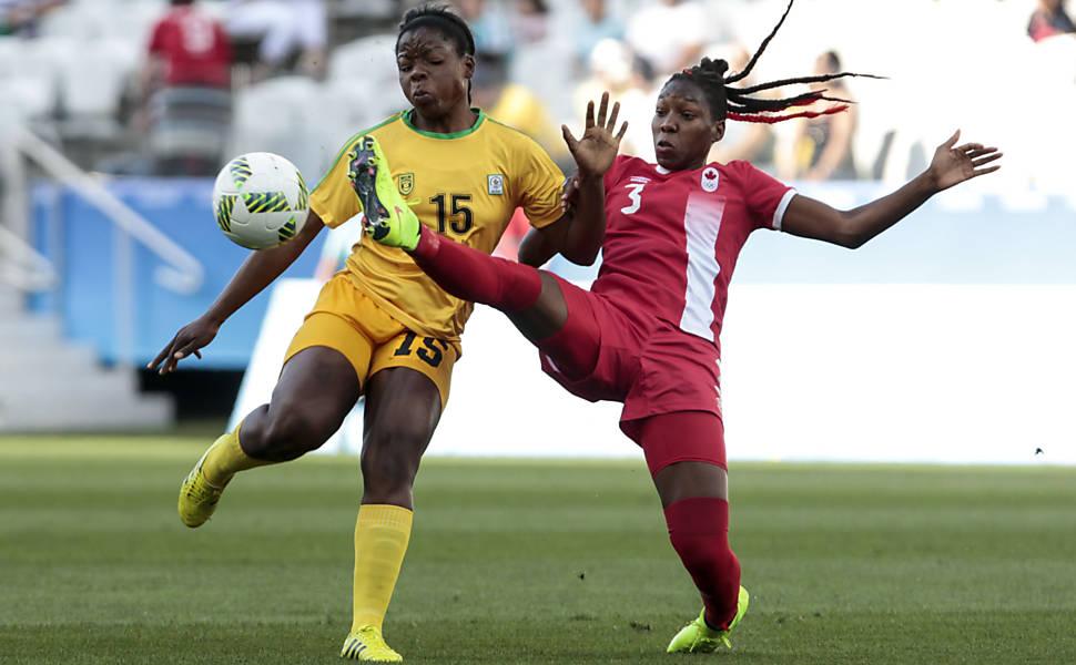 Futebol feminino: Canadá x Zimbábue