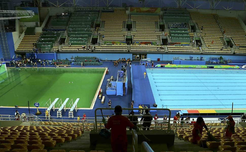 A piscina verde