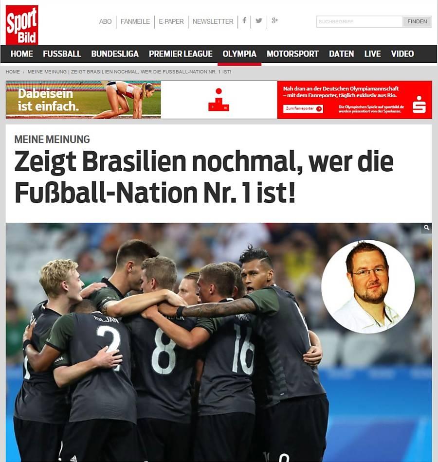 Imprensa alemã relembra o 7 a 1