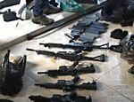 Polícia Civil de São Paulo apreende armamento que teria sido usado no mega-assalto a Prosegur em Santos (SP), em abril de 2015