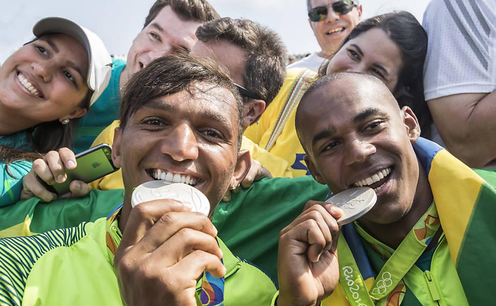 Isaquias Queiroz e Erlon de Souza na Rio-2016