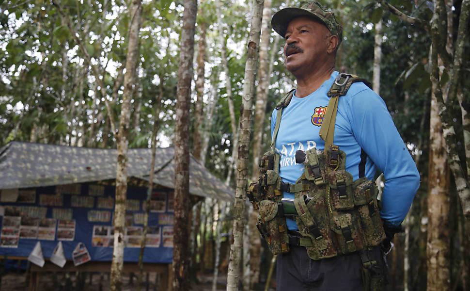Acampamento das Farc em selva colombiana