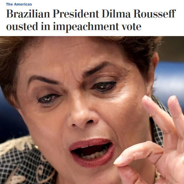 Repercussão do impeachment nos jornais estrangeiros