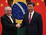 Presidente Michel Temer e presidente chinês, Xi Jinping, em Hangzhou, China