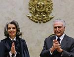 Presidente Michel Temer e ministra Cármen Lúcia