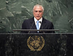 Presidente Michel Temer discursa na abertura da Assembleia Geral da ONU