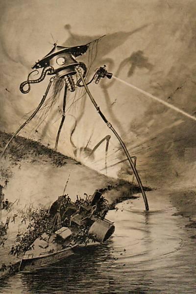 Ilustrações originais de 'Guerra dos Mundos'
