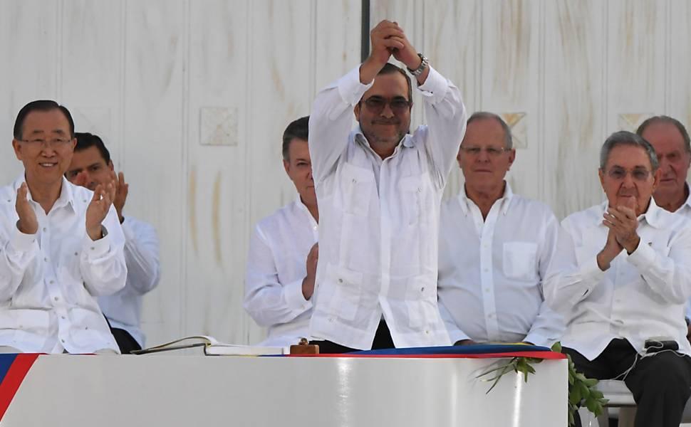 Assinatura do acordo de paz com as Farc
