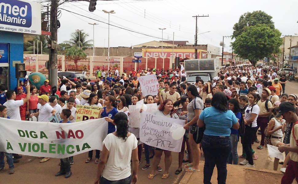 Protesto por Paz em Altamira