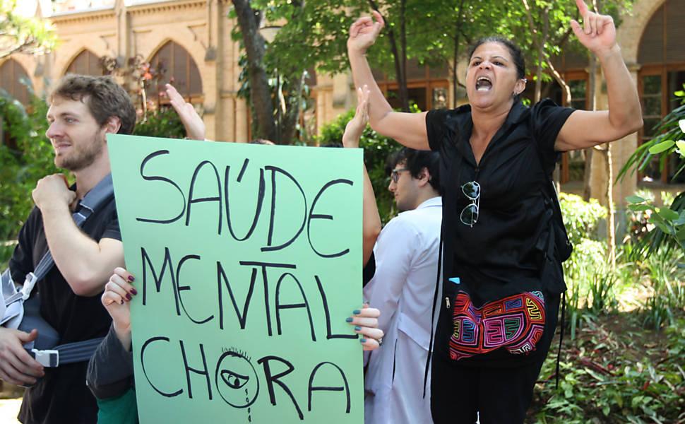 Manifestação na Santa Casa em São Paulo