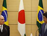 Presidente Michel Temer e primeiro-ministro japonês, Shinzo Abe, durante coletiva de imprensa em Tóquio, Japão