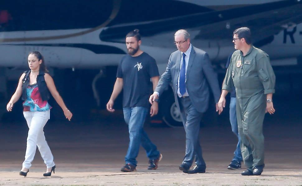 Eduardo Cunha � preso em Bras�lia
