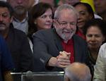 Um dia depois de ser denunciado pela Operação Lava Jato por corrupção e lavagem de dinheiro, petista fez um pronunciamento oficial em São Paulo (SP)