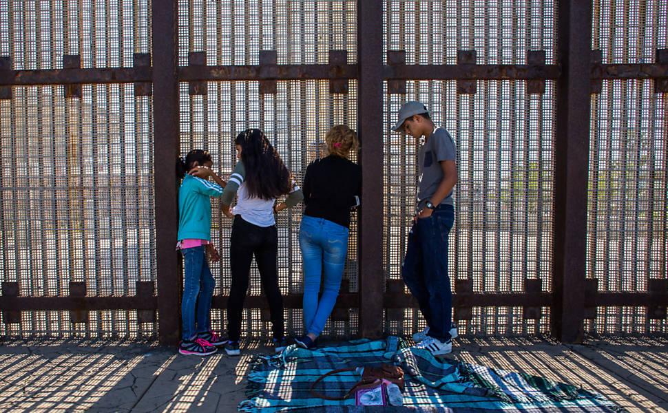 Muro que divide EUA com o México