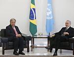 Presidente Michel Temer recebe secretrário-geral da Onu, António Guterres