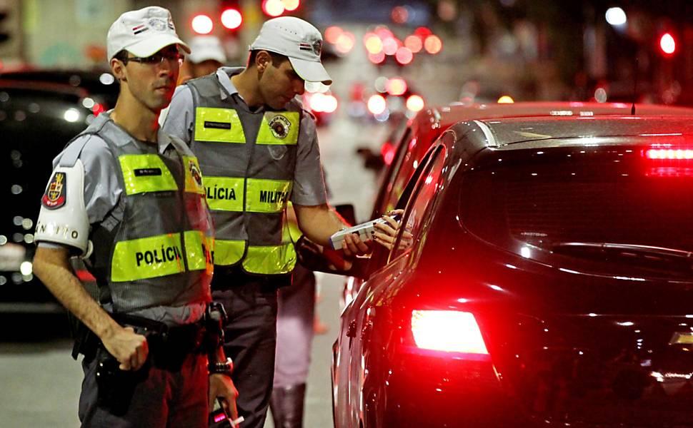 Blitz da Lei Seca em São Paulo