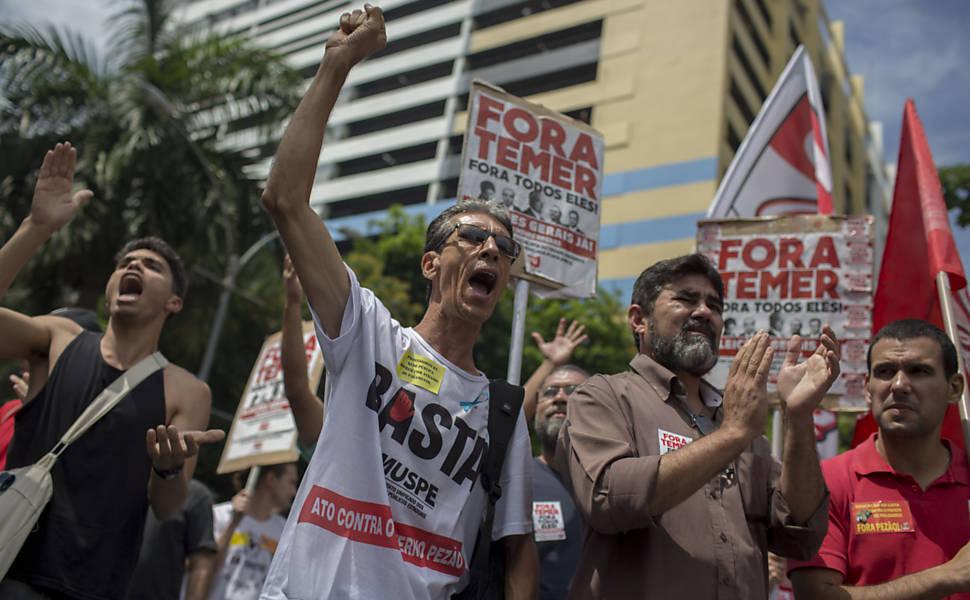 Protesto de servidores do RJ