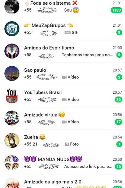 Grupos de bate-papo no WhatsApp
